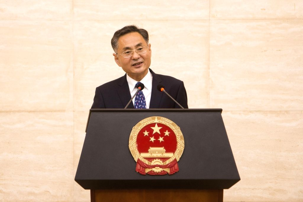 KIGALI, Sept. 28, 2017 - Chinese Ambassador to Rwanda Rao Hongwei addresses a reception to celebrate the 68th anniversary of the founding of the People's Republic of China, in Kigali, capital of ... - Rao Hongwei