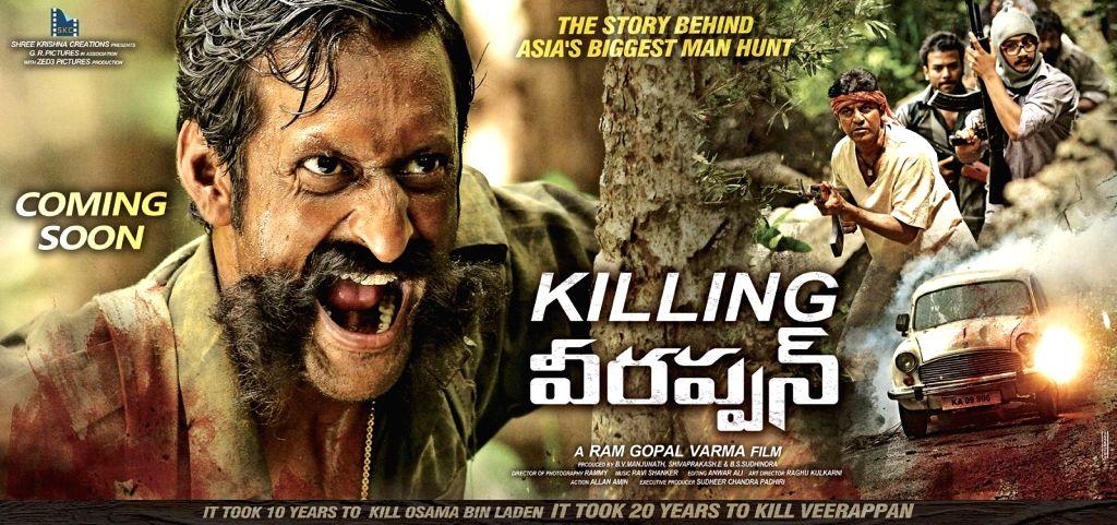 Killing Veerappan movie stills, film written and directed by Ram Gopal Varma