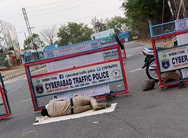Kind gesture by police personnel in Telugu states.