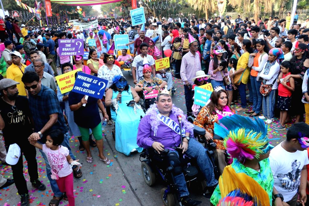 King Momo announcing the start of Carnival Festival in Goa during the Carnival Parade held in Mirmar, Panaji on March 2, 2019.