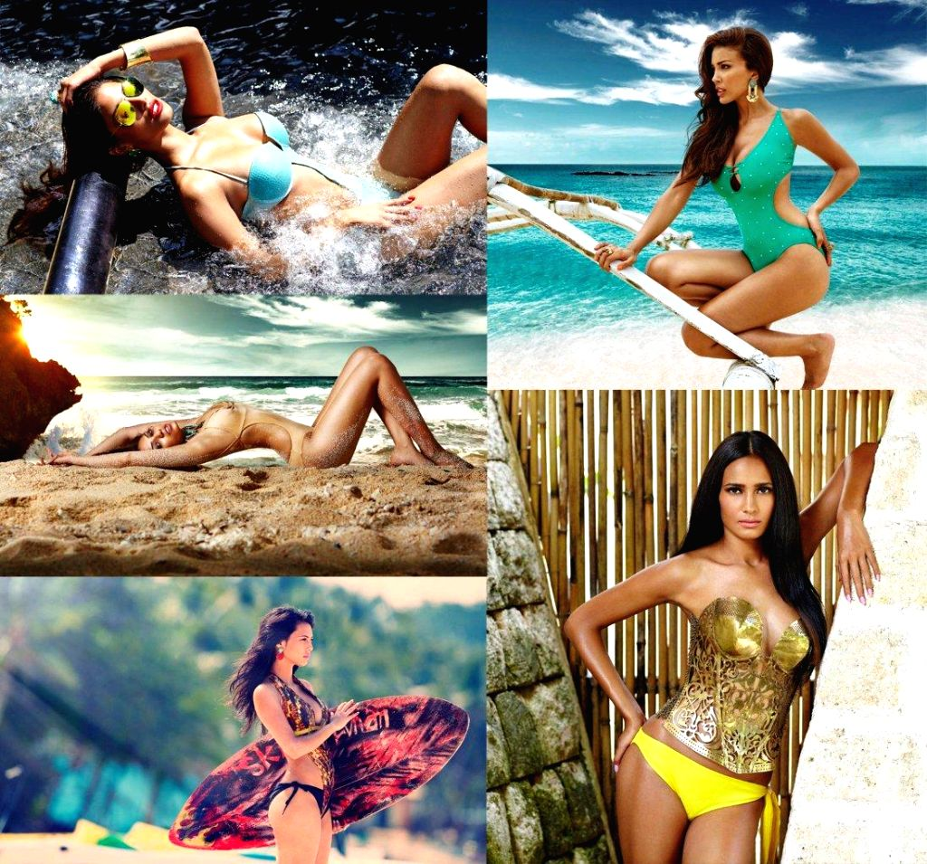 Kingfisher Calendar 2014, Left T to B & R - T to B Nicole Fario, Sobitha Dhulipala, Rochelle Rao,  Sahar Biniaz, Rikee Chatterjee - Rochelle Rao and Rikee Chatterjee