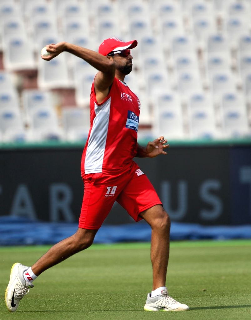 Kings XI Punjab skipper Ravichandran Ashwin during a practice session in Mohali on April 7, 2018.