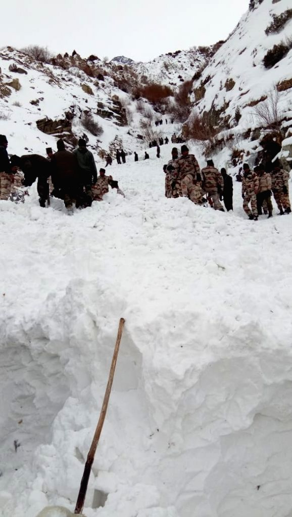 Kinnaur: A snow avalanche killed a soldier while five other soldiers went missing near the Tibet border in Himachal Pradesh's Kinnaur district on Feb 20, 2019. Five Indo-Tibetan Border Force (ITBP) troopers were also injured in the disaster that occu
