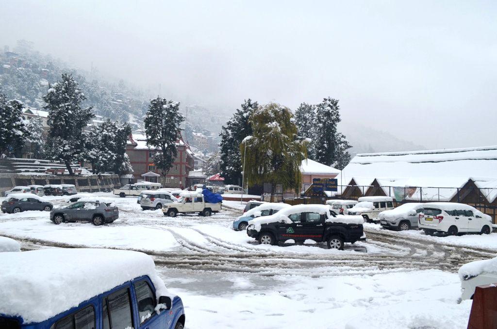 Kinnaur District in Himachal Pradesh receives fresh snowfall on Nov 27, 2019.