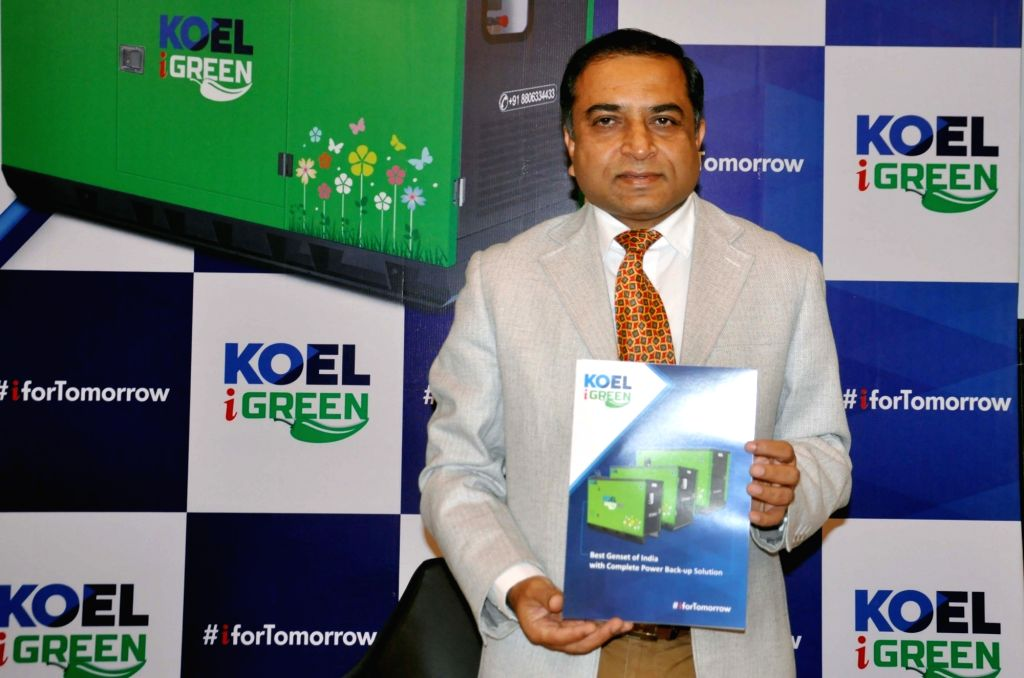 Kirloskar Oil Engines Limited (KOEL) Chief Operating Officer Sanjeev Nimkar addresses a press conference in Kolkata on Feb 13, 2019.
