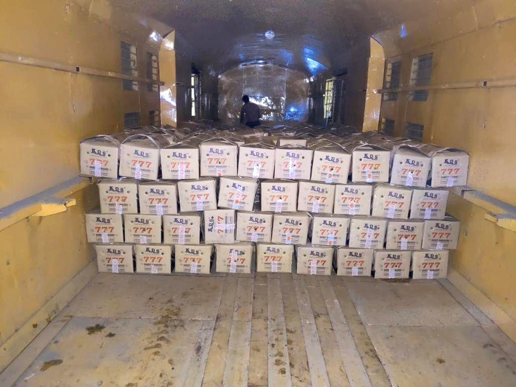 Kisan Rail with mangoes leave for Delhi from Jagtiyal