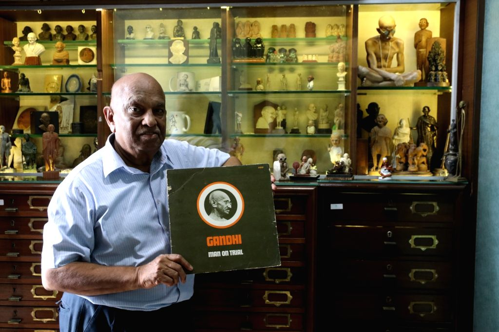 Kishore Jhunjhunwalla, Mumbai businessman and collector of the world's largest memorabilia on Mahatma Gandhi, at his residence. For Jhunjhunwalla, what started as a curiosity for Mohandas K. ... - Mohandas K. Gandhi