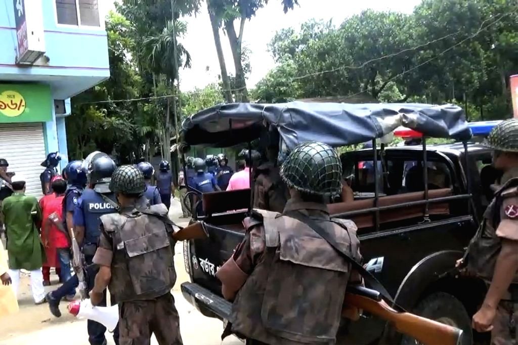 Kishoreganj (Bangladesh): Security beefed up at Sholakia Ground in Bangladesh's Kishoreganj district, where four people were killed and over a dozen injured in a terror attack aimed at a police ...