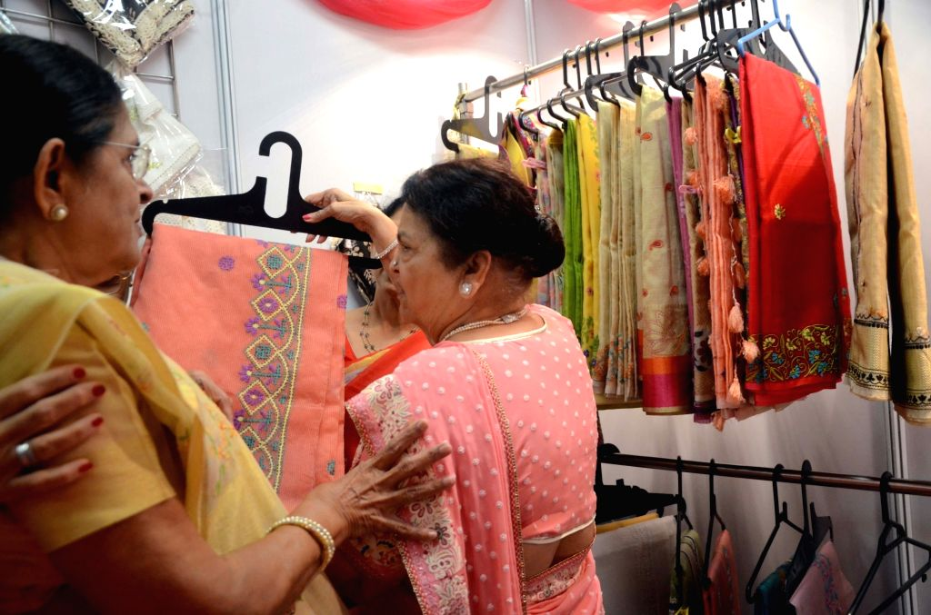 Kokilaben Ambani during the inauguration of Women Entrepreneurs Exhibition in Mumbai on Aug 17, 2017. - Kokilaben Ambani