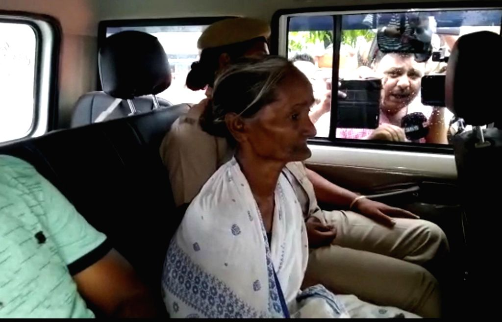 Kokrajhar: Madhubala Mandal, a 59-year-old woman who was sent to a detention camp for illegal immigrants in 2016 in a case of mistaken identity, leaves after being released in Assam's Kokrajhar on June 26, 2019. (Photo: IANS)