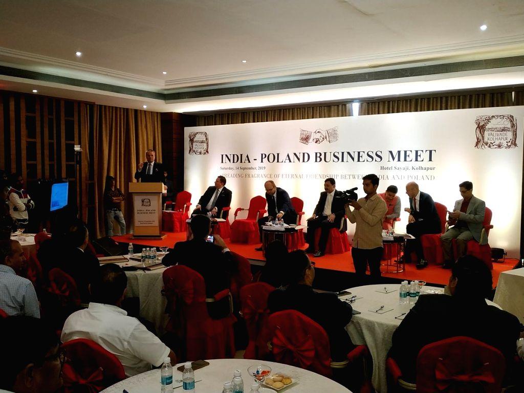 Kolhapur: Poland's Deputy Foreign Minister Marcin Przydacz and other dignitaries during India-Poland Business Meet in Kolhapur, Maharashtra on Sep 14, 2019. (Photo: IANS) - Marcin Przydacz