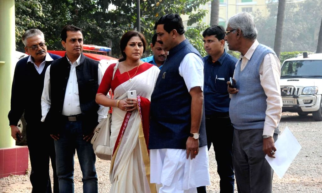 A BJP delegation led by West Bengal BJP chief Rahul Sinha comes out of the Raj Bhawan after meeting the Governor of the state Keshari Nath Tripathi regarding Parui violence in Kolkata, on ... - Rahul Sinha and Keshari Nath Tripathi