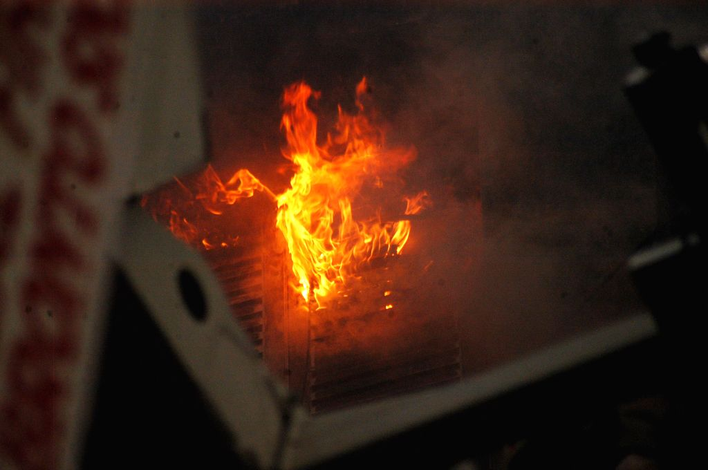 A major fire breaks out in a Kolkata shopping mall on April 26, 2015.
