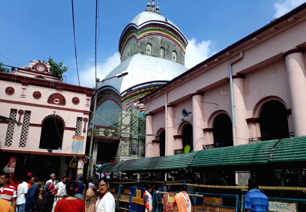 Kolkata: A view of Kalighat Kali Temple on the occassion of 'Kali Puja' in Kolkata on Oct 27, 2019.