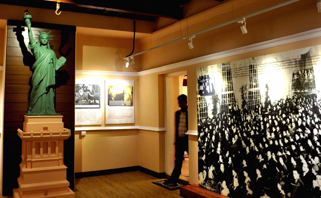 A view of the newly inaugurated `Rabindranath and the US Gallery` at Rabindra Bharati Museum, Jorasanko Thakur Bari in Kolkata, on Feb 7, 2015.