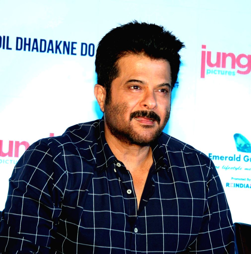 Actor Anil Kapoor during a press conference to promote his upcoming film `Dil Dhadakne Do` in Kolkata, on May 24, 2015. - Anil Kapoor
