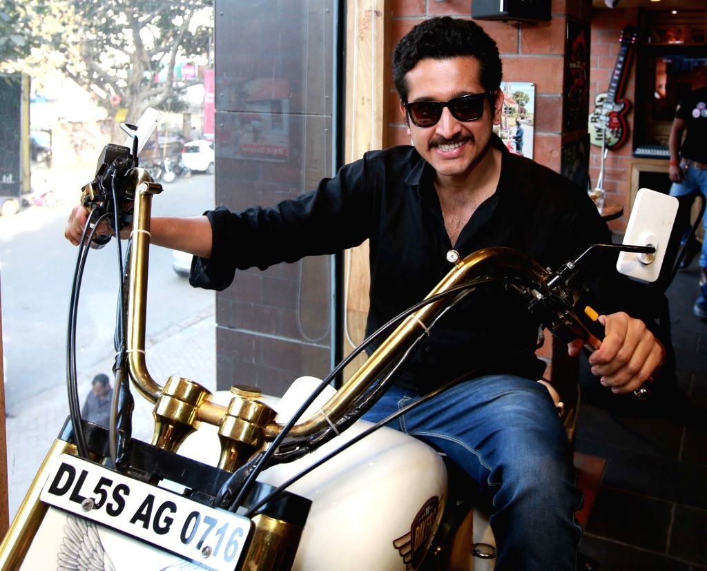 Actor Parambrata Chatterjee during the Desi Sizzlers foods taste at Bikers Cafe in Kolkata on Feb. 4, 2015.