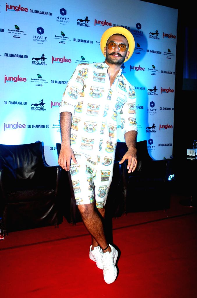 Actor Ranveer Singh during a press conference to promote his upcoming film `Dil Dhadakne Do` in Kolkata, on May 24, 2015. - Ranveer Singh