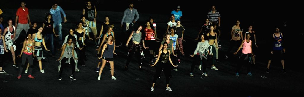 Actress Anushka Sharma during the rehearsals for the inauguration of IPL - 2015 at Salt Lake stadium in Kolkata on April 6, 2015. - Anushka Sharma