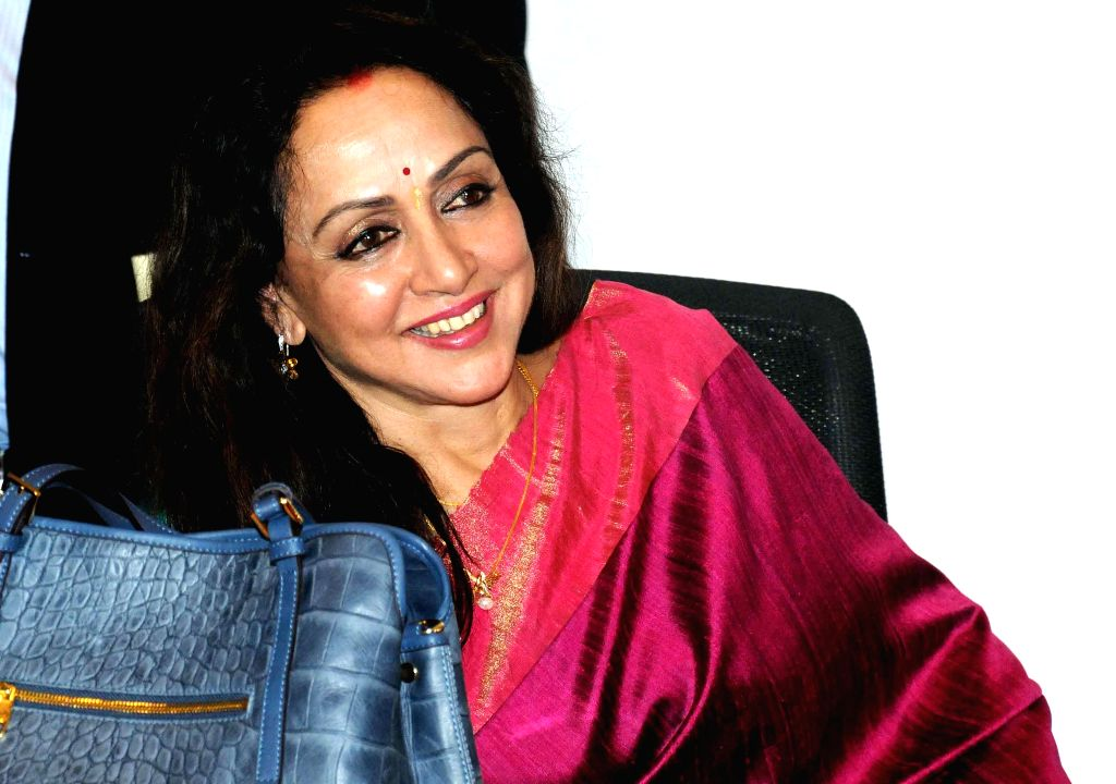 Actress Hema Malini at the launch of her audio CD in Kolkata, on Jan 22, 2015.