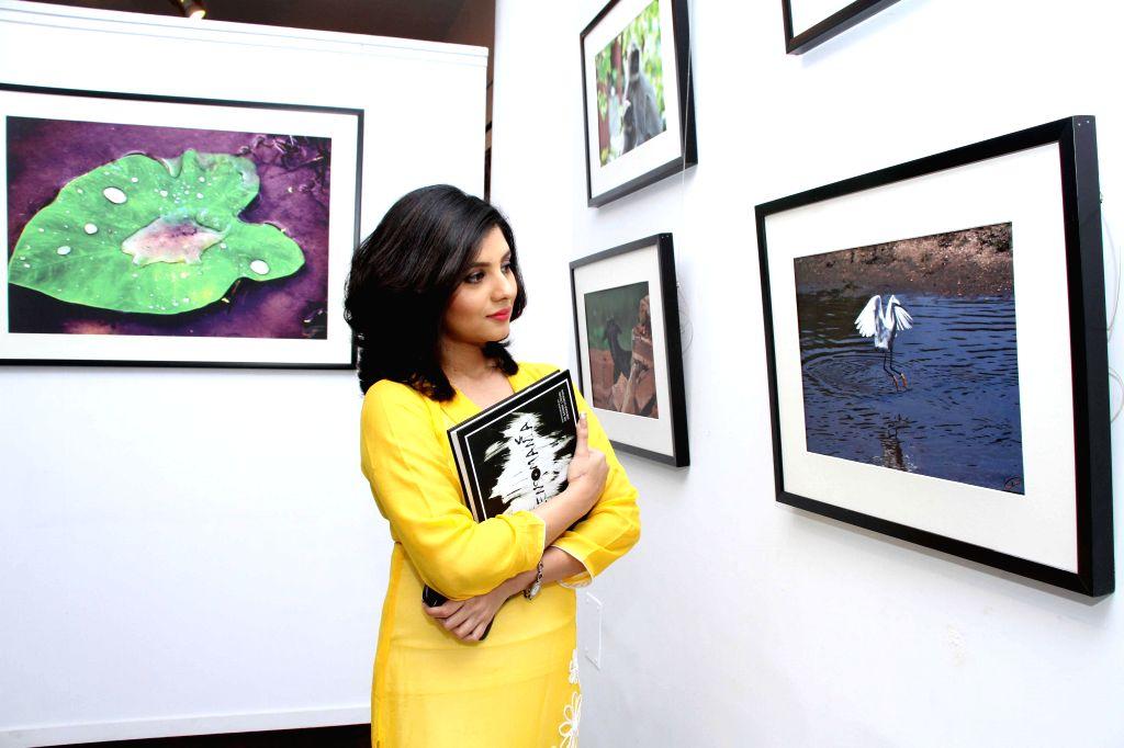 Actress Payel Sarkar during a photography exhibition in Kolkata on 11 Nov 2014. - Payel Sarkar