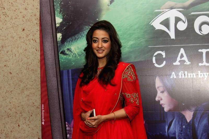 Actress Raima Sen during a press conference to promote her upcoming film `Kolkata Calling` in Kolkata. - Raima Sen