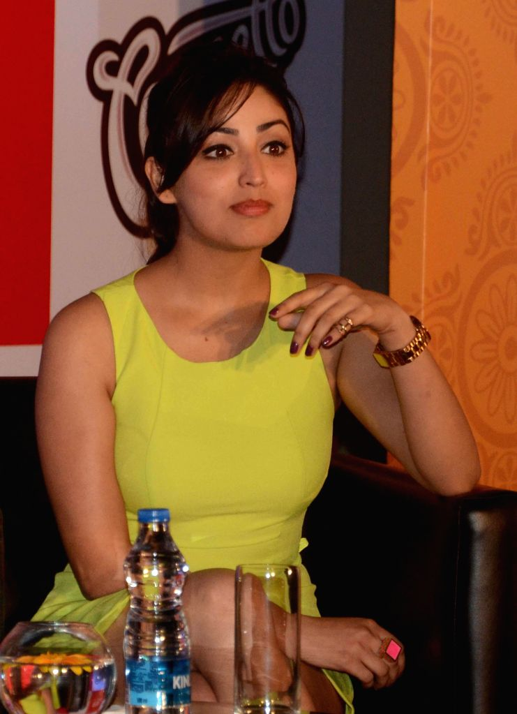 Actress Yami Gautam during a promotional event in Kolkata on Oct 18, 2014.