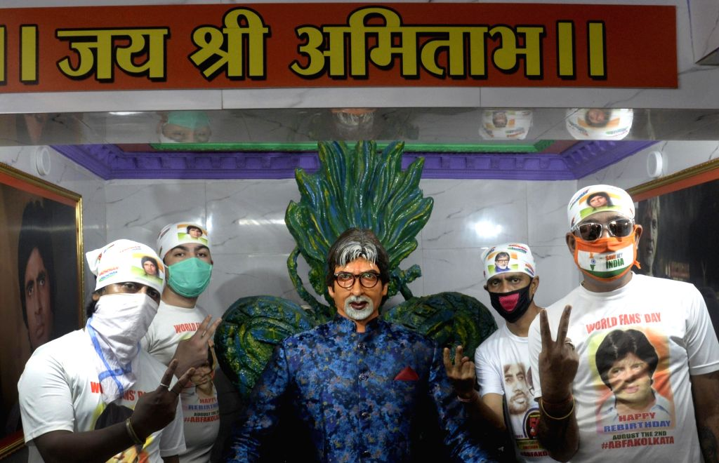 Kolkata : All Bengal Amitabh Bachchan Fans' Association (ABFA) activists perform 'mangala yajna' to mark the time when actor Amitabh Bachchan came out of coma after an accident on the sets of his ... - Amitabh Bachchan