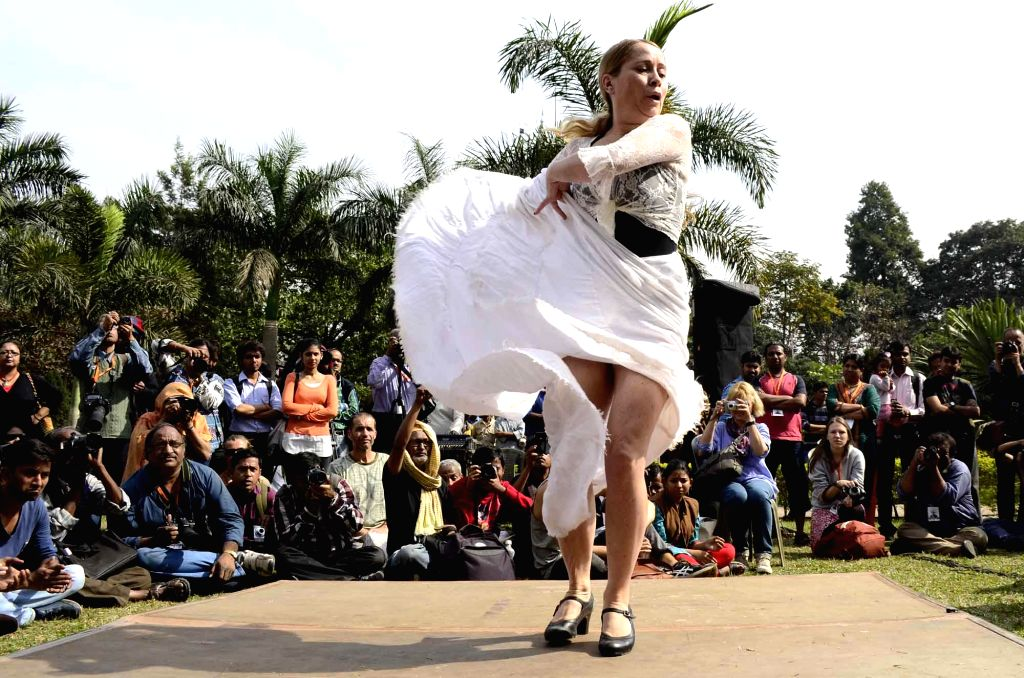 An artist performs during `International Festival of Sufi and Traditional Music` in Kolkata, on Feb 7, 2015.