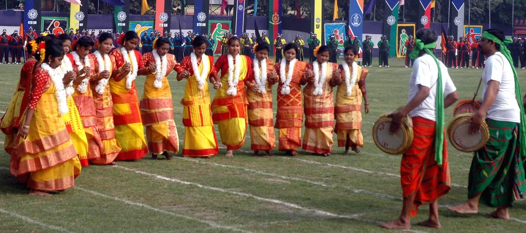 Artists perform during annual sports day of Kolkata Police in Kolkata, on Jan 9, 2015.