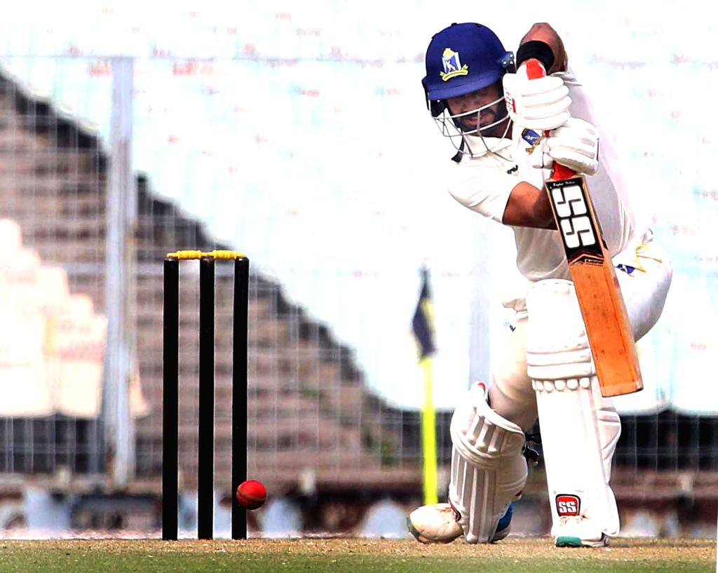 Kolkata: Bengal's Manoj Tiwary in action during the Elite Group A Ranji Trophy match between Bengal and Andhra at Eden Gardens, in Kolkata on Dec 25, 2019. (Photo: IANS)