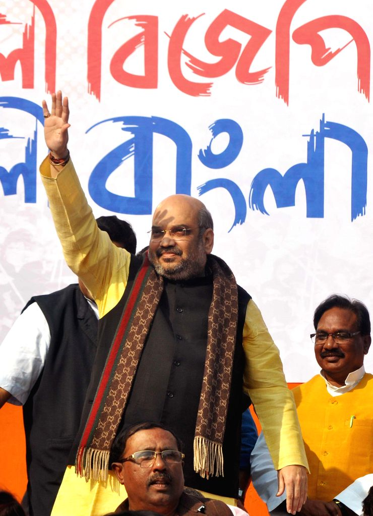 BJP chief Amit Shah during a BJP rally in Kolkata, on Nov 30, 2014.