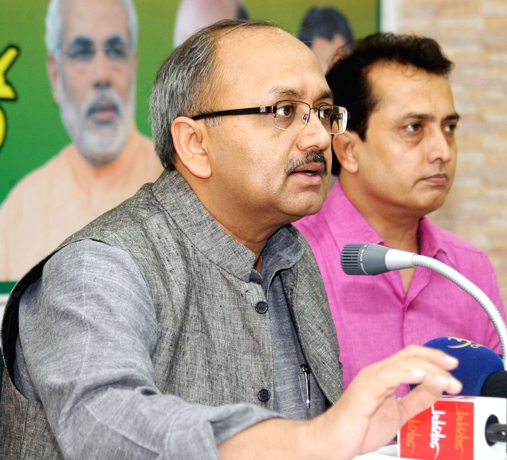 BJP national secretary Siddharth Nath Singh during a press conference at party office in Kolkata, on March 31, 2015.