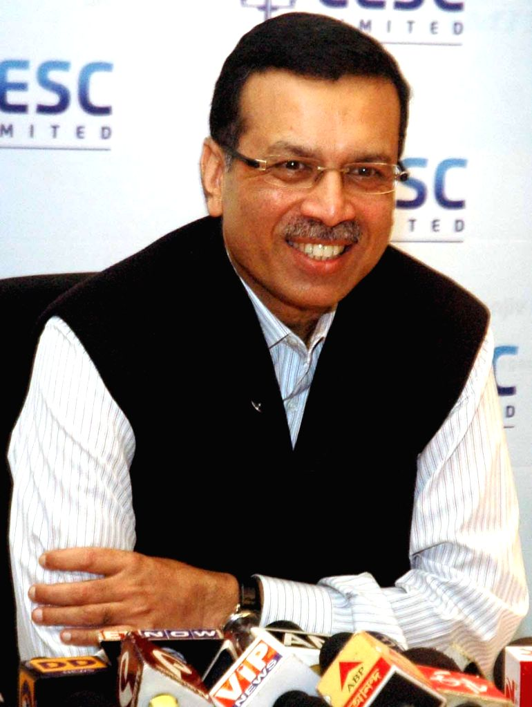 CESC chairman Sanjiv Goenka addresses press regarding CESC's plan to introduce scholarships for students in Kolkata, on Jan 14, 2015.