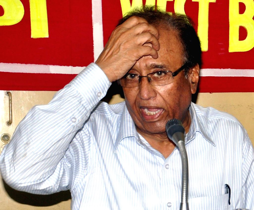 Communist Party of India (CPI) General Secretary S Sudhakar Reddy addresses a press conference in Kolkata, on May 3, 2015.
