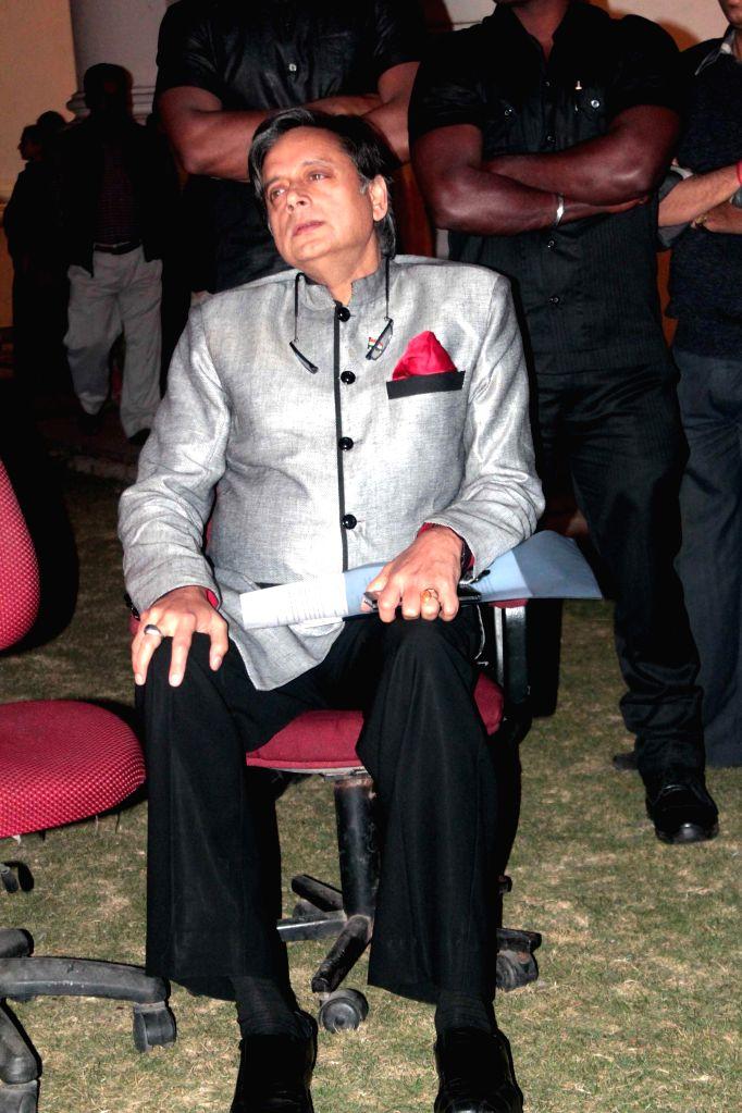 Congress MP from Thiruvananthapuram Shashi Tharoor during a programme at the Indian Museum in Kolkata, on Jan 14, 2015.