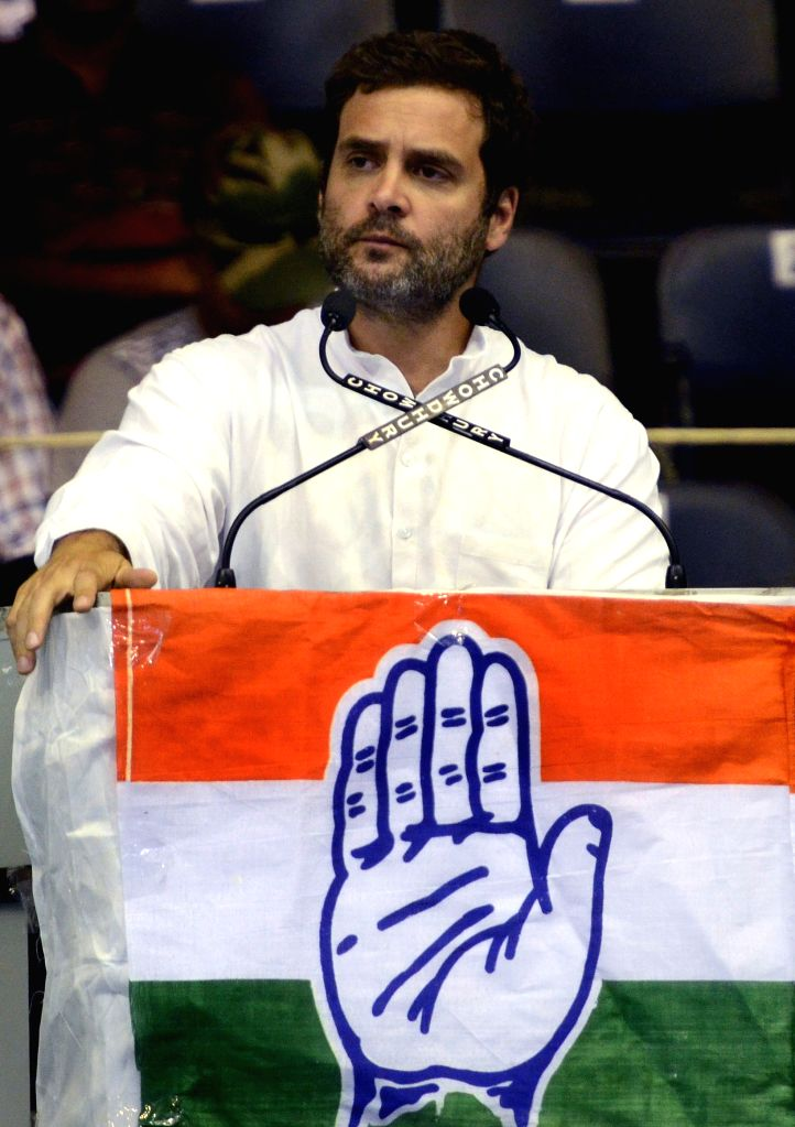 Congress vice president Rahul Gandhi addresses during a Congress worker meeting in Kolkata on June 6, 2015.