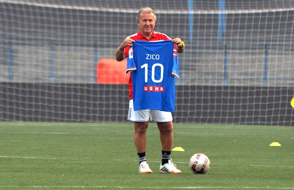 FC Goa coach Jico during a practice session in Kolkata, on Dec 9, 2014.