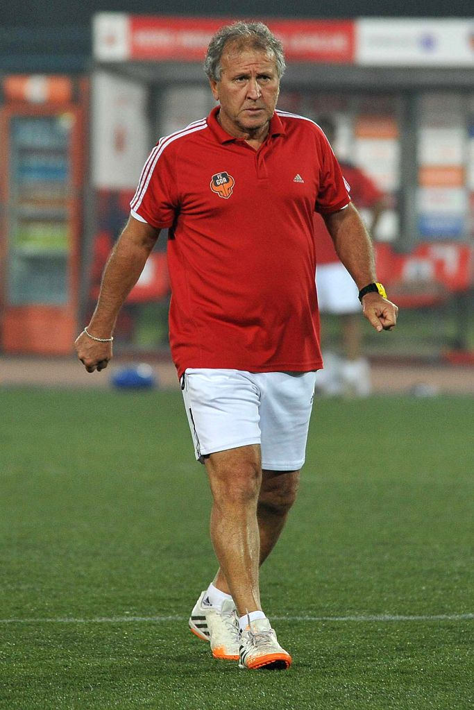 FC Goa coach Zico during a practice session in Kolkata on Dec 13, 2014.