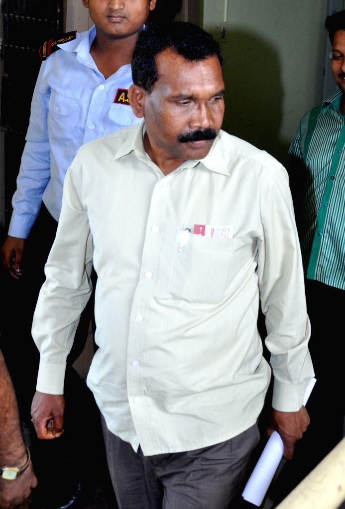 Former chief minister of Jharkhand Madhu Koda arrives to appear before ED (Enforcement Directorate) in connection with the multi-crore-rupee Saradha chit fund scam in Kolkata, on April 8, ...