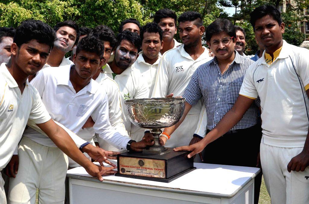 Former cricketer Snehasish Ganguly during inauguration of `Chandi Ganguly Memorial Trophy` in Kolkata, on April 27, 2015.