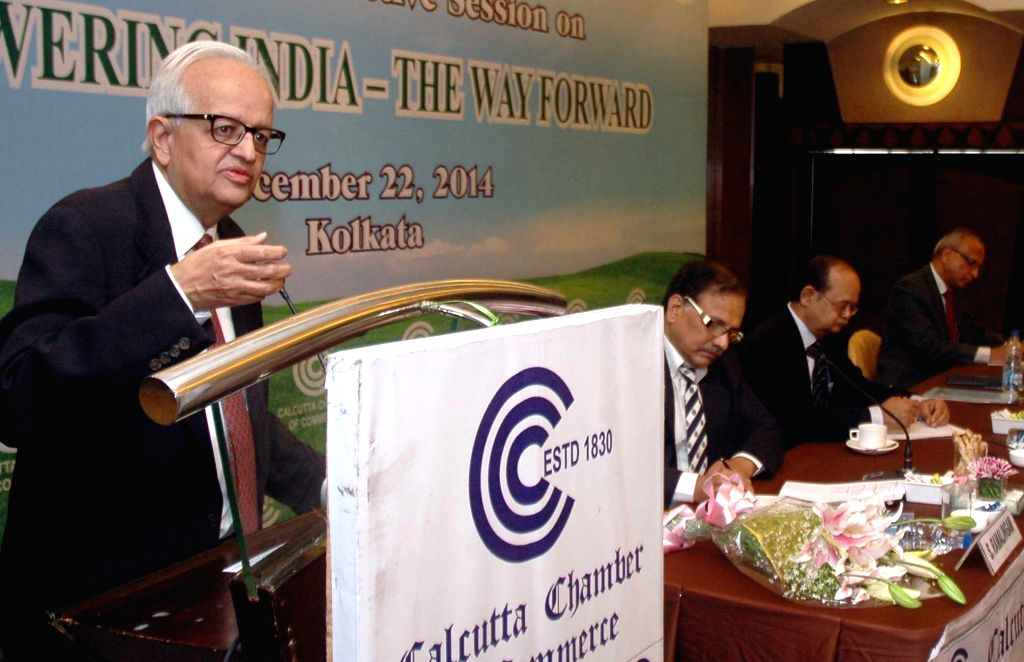 Kolkata: Former RBI Governor Bimal Jalan during an interactive session in Kolkata, on Dec 22, 2014. (Photo: IANS)