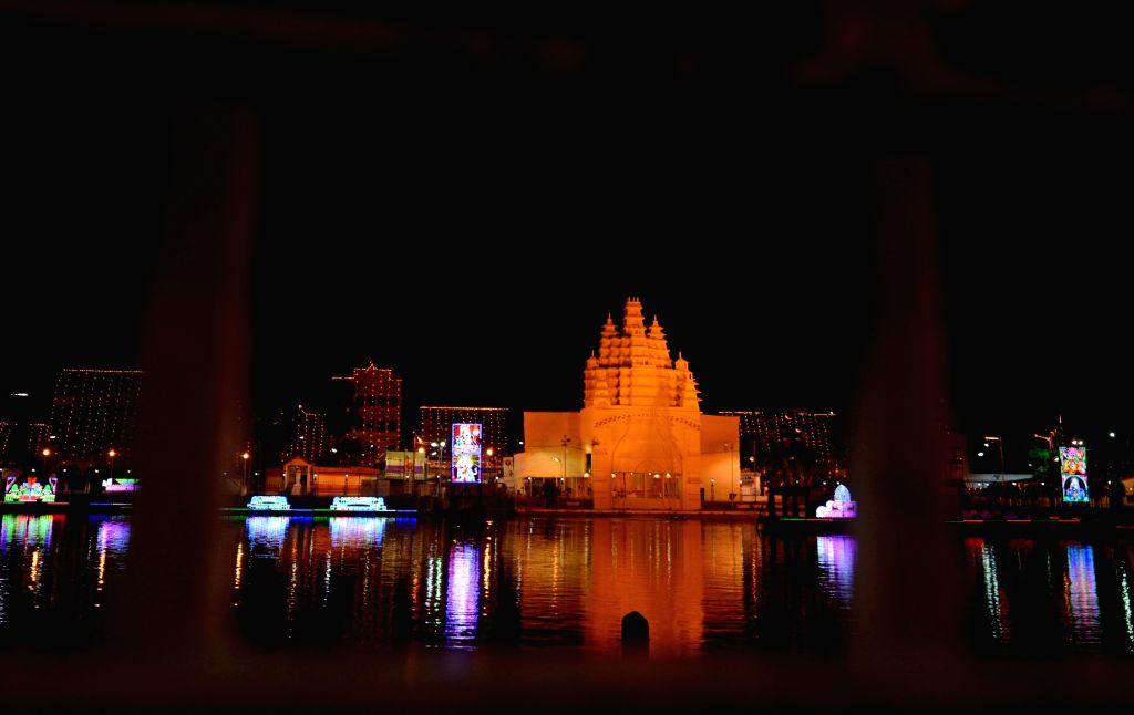 Kolkata Illuminated with decorative lighting during Durga Puja celebrations, on Oct 23, 2020.