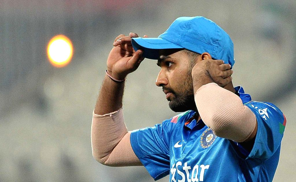 Indian cricketer Rohit Sharma during the 4th ODI between India and Sri Lanka at the Eden Gardens in Kolkata, on Nov 13, 2014. - Rohit Sharma