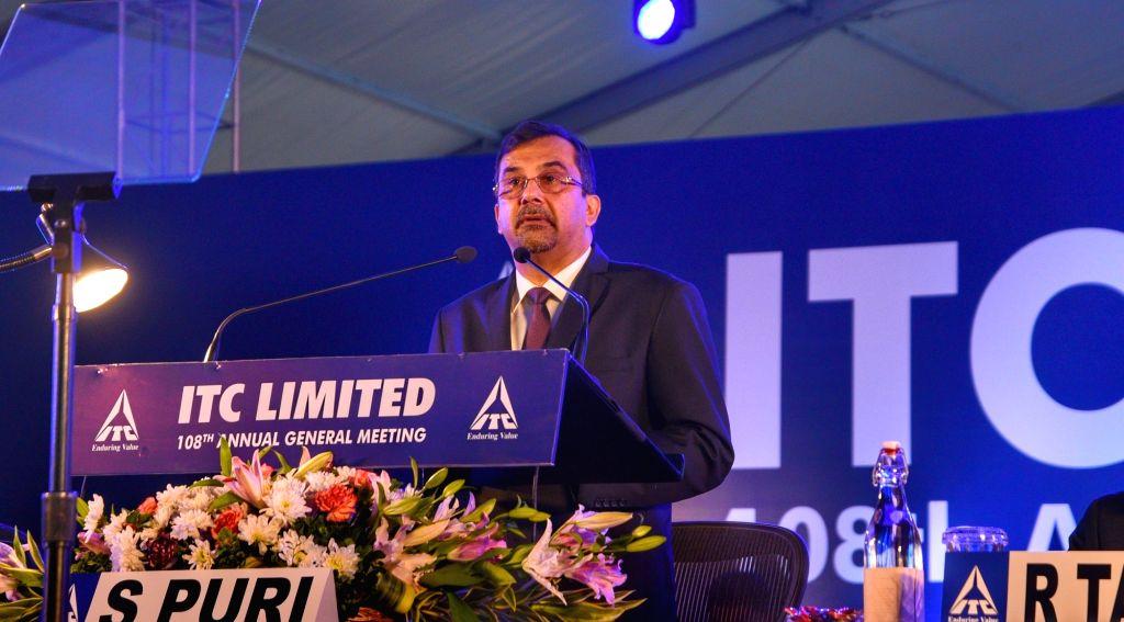 Kolkata: ITC Chairman and MD Sanjiv Puri during company's 108th Annual General Meeting in Kolkata on July 12, 2019. (Photo: IANS)