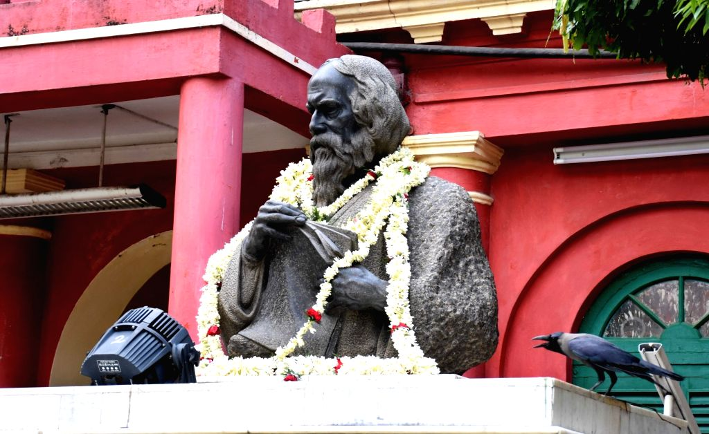 Kolkata: Jorasanko Thakur Bari bears a deserted look on the occasion of Rabindranath Tagore's birth anniversary after all programme cancelled during the extended nationwide lockdown imposed to mitigate the spread of coronavirus, in Kolkata on May 8,