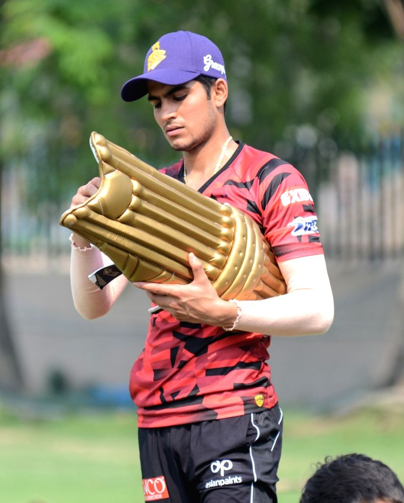Kolkata Knight Rider's Shubman Gill during a practice session in Kolkata, on March 14, 2019. (Photo: IANS