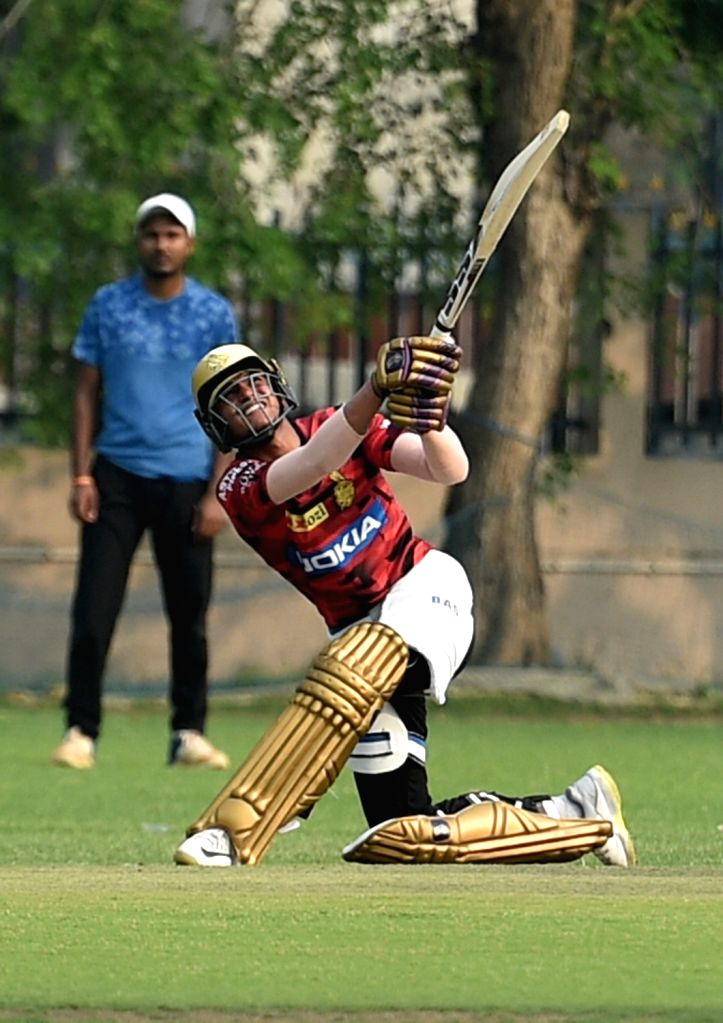 Kolkata Knight Rider's Shubman Gill in action during a practice session in Kolkata, on March 13, 2019.
