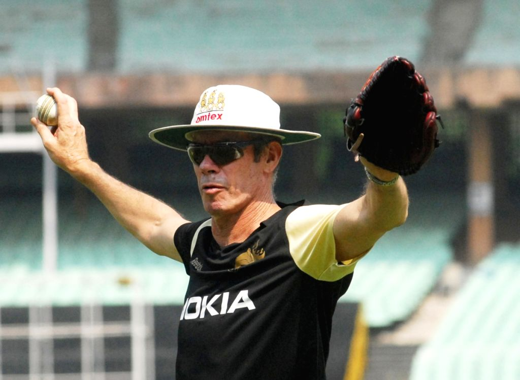 Kolkata Knight Riders manager John Buchanan at the practice session at Eden Gardens in Kolkata on Wednesday 25 March 2009.