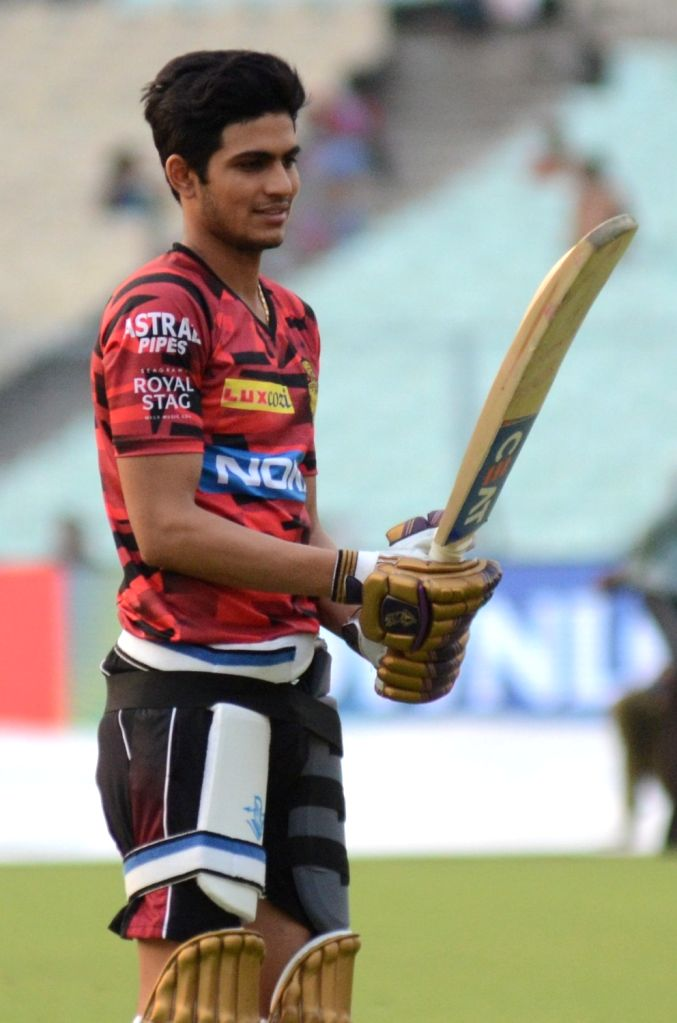 Kolkata: Kolkata Knight Riders' Shubman Gill during a practice session at the Eden Gardens in Kolkata on March 26, 2019. (Photo: IANS)